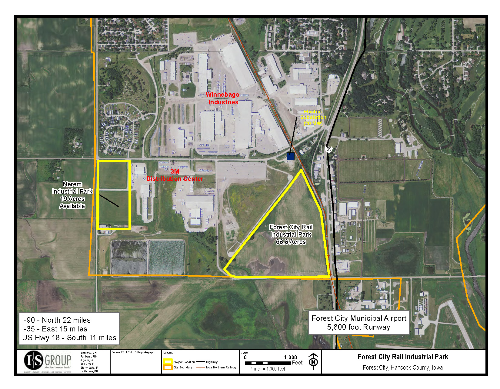 Industrial Rail Park Certified Site Forest City Iowa - Park and forest land us map