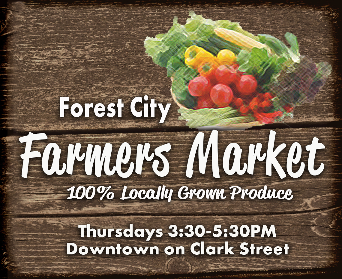 Forest City Farmers Market |Thursdays 3:30 | Forest City, Iowa