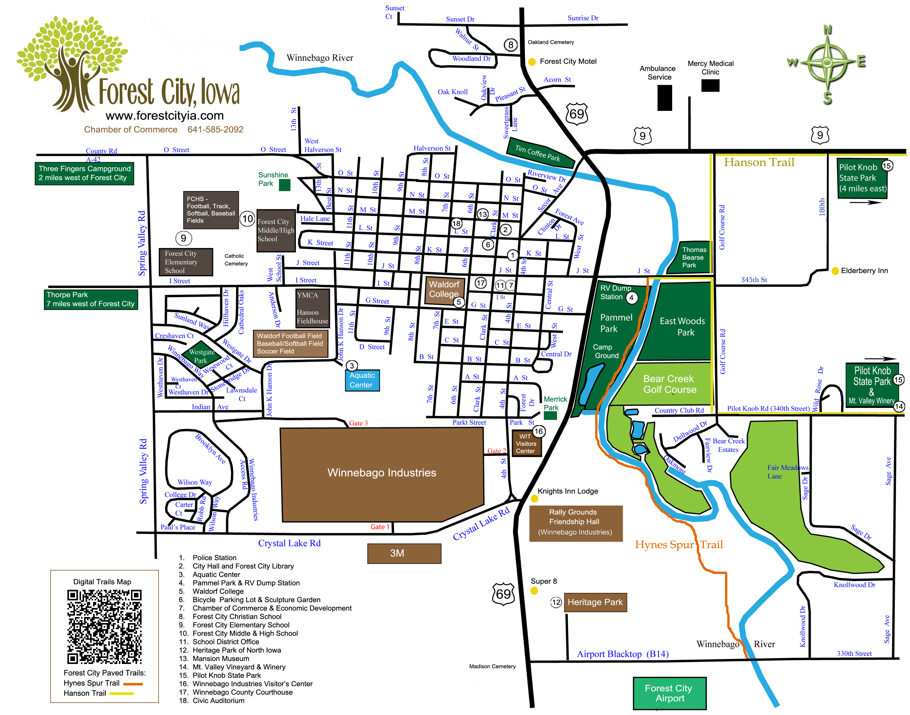 Forest City Map Forest City Iowa