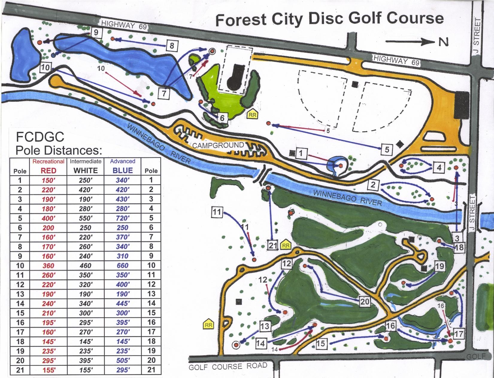 Disc Golf Course Equipment ~ Recreation forest city iowa